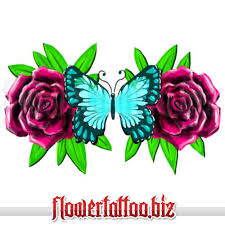 butterfly with roses design