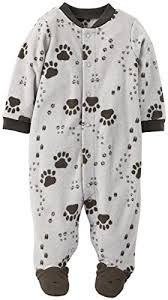 s baby boys 1 pc fleece footed pajamas claires baby space