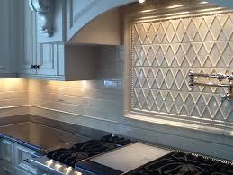 Tile Medallion Backsplash by Hand Molded Subway Tile With Frame Out Kitchen Backsplash Tile