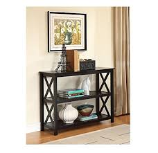 black entry hall table black occasional console sofa table bookshelf ehomeproducts http