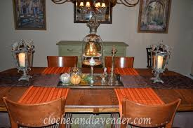 dining room got the fall treatment cloches u0026 lavender