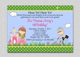 Avery Invitation Cards Princess Knight Party Invitation Princess Knight Birthday