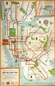 map of new york subway vintage map of the month nyc subway system 1955