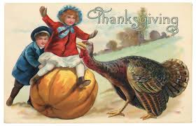 free illustration vintage thanksgiving postcard free image on