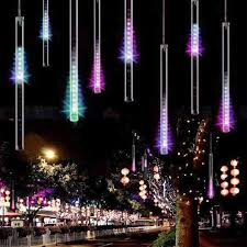 outdoor string lights rain connectable multi color meteor tube meteor shower rain string led