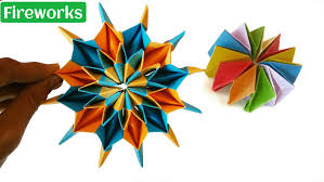 origami fireworks diy tutorial by paper folds youtube