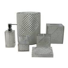 silver bathroom accessories you u0027ll love wayfair