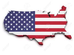 Flag Of The United States Of America United States Map With Flag 15513364 A 3d Us Map With Flag Of The