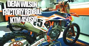 motocross action magazine inside dean wilson u0027s factory red bull ktm 450sxf motocross