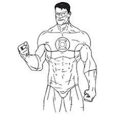 Top 10 Green Lantern Coloring Pages For Toddlers Green Coloring Page