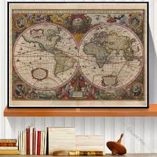 Framed Map Of The World by Online Buy Wholesale Framed Map From China Framed Map Wholesalers