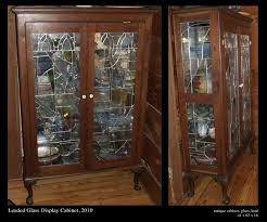 antique display cabinets with glass doors custom leaded glass display cabinet by david l zvanut fine art