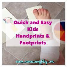 easy kids handprint u0026 footprint art for handmade gifts kids
