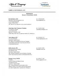 Sample References In Resume by Resume Reference Page Template Health Symptoms And Cure Com