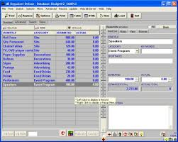 database template budget organizer deluxe simple budget manager database software