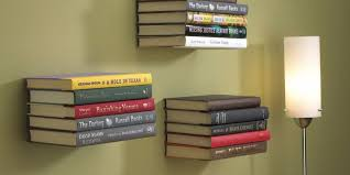 Build Floating Shelves by How To Make Diy Floating Shelves Out Of Your Old Books Floating