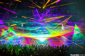 laser light show miami pretty lights restricts totems from the front of the stage during