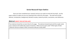 how to make research paper outline senior research paper outline google docs