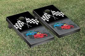 finish line racing regulation bean bag toss game
