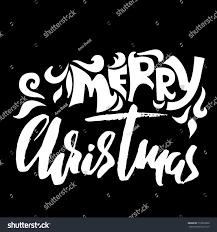 merry christmas modern hand drawn phrase merry christmas modern stock vector 719372032
