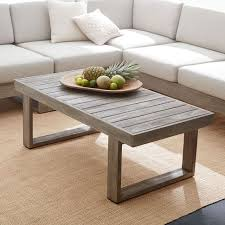 wood plank coffee table portside outdoor coffee table weathered gray west elm