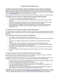 Inside Sales Resume Example by Florida Consumer Protection Law