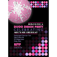 Birthday Card Invitations Printable Invite Bridal Shower Pinterest Discos Disco Party And Disco
