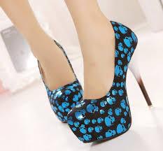 Skull High Heels Gold Skull Single Shoes 14cm Ultra High Heels Fashion Shoes High