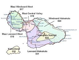 Maui Hawaii Map Forecast Area Map