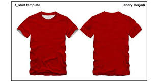 t shirt template front and back 123freevectors