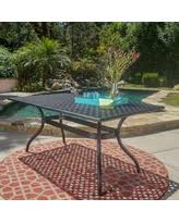 Patio Tables Only Great Deals On Sebastian Outdoor Cast Aluminum Rectangle Dining
