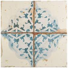 merola tile artisan azul decor 13 in x 13 in ceramic floor and