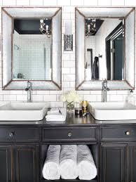 Subway Tiles In Bathroom Bold Black Interior Doors Inspiration And Tips Hgtv U0027s