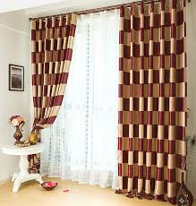 Plaid Blackout Curtains Graceful Burgundy Plaid Polyester Quality Curtains Buy