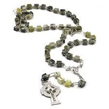 genuine connemara marble rosary the catholic company