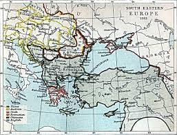 Eastern Europe Map South Eastern Europe Map 1861 A D Full Size
