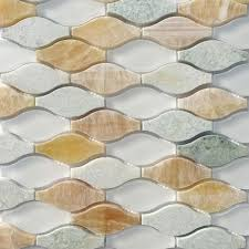 marble mosaic tile splashback tile micro grass seed 12 in x 12 in x 8 mm glass and