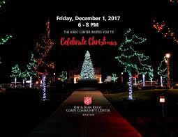 celebrate christmas tree lighting event