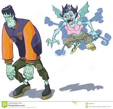 Halloween Monsters Pictures by Teenage Halloween Monsters Vector Clip Art Royalty Free Stock