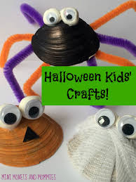 mini monets and mommies kids u0027 halloween pumpkin mummy and spider