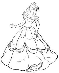 free printable belle coloring pages kids