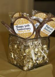 gifts for 50th wedding anniversary wooden 50th wedding anniversary favors brown simple classic