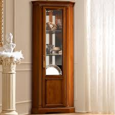 Curio Display Cabinets Uk Corner Display Cabinet With Glass Doors