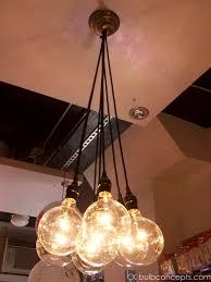 Exposed Bulb Chandelier Chandelier Stunning Light Bulb Chandelier Cool Light Bulb