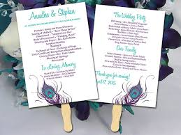 wedding programs fans templates diy wedding program fan template ceremony program