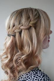 how to braid short hair step by step short curly hair waterfall braid hairstyles how to braid short