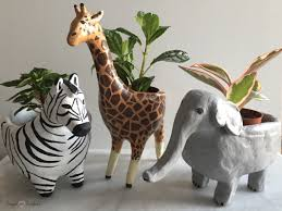 diy clay animal planters frugal in fairfield
