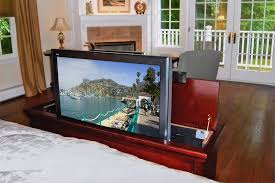 tv lift cabinet foot of bed cherry foot of the bed television lift for flat panel hdtv