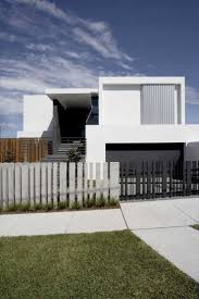 Modern Fence Minimalist Home With Clean Lines And A Monochromatic Theme New