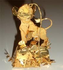 gold plated christmas ornaments vintage disney danbury mint simba lion king gold plated christmas